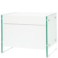 lucca modern nightstand White