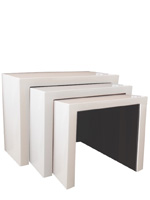 Modern Cilento side table in white