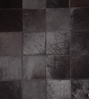 Cordoba Modern Cowhide Rug Black Medium