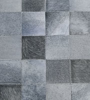 Cordoba Modern Cowhide Rug Grey Medium