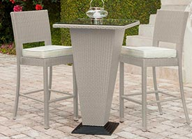 figari modern outdoor patio dining set grey