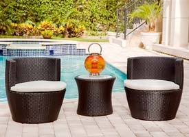 favara modern outdoor patio lounging set espresso