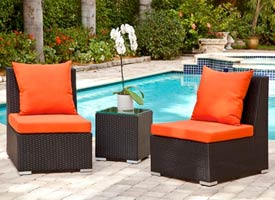 fiora modern outdoor patio lounging set espresso