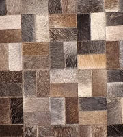 Formosa Modern Cowhide Rug Iron Small