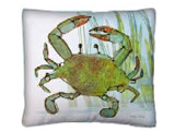 Green Crab Modern Outdoor Patio Pillow