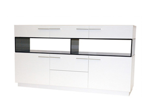 Imola Buffet in white lacquer