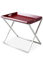 Irpina Buttler modern side table in red
