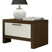 Modern Isca nighstand in wengue finish