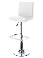 Lazzaro barstool in white leatherette available at MH2G