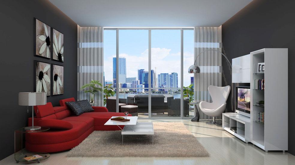 Modern urban loft living room for Living room ideas urban