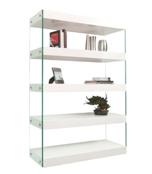 Davoli Modern Standing Wall Unit White lacquer