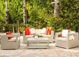 mallorca modern outdoor patio lounging set grey