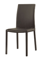 Messe dining chair in espresso leatherette