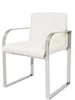 Osimo Modern Dining Chair white Leatherette