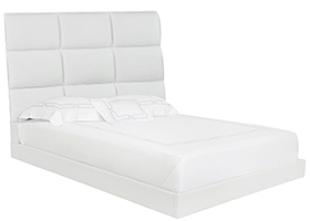 Palermo Modern Bed in White
