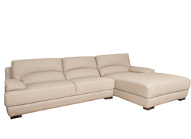 papoli modern sofa sectional In grey leather