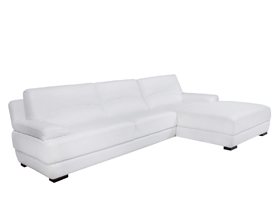 papoli modern sofa sectional In white leather