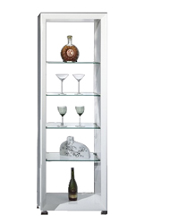 Picena vertical stand in white lacquer