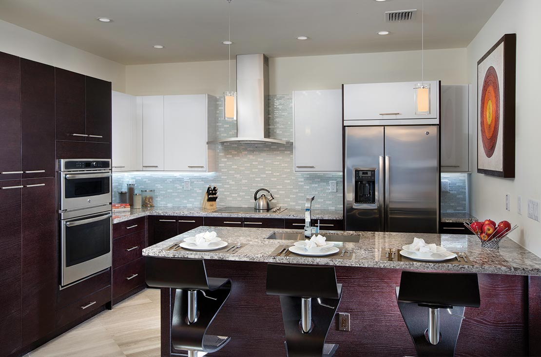 Interior Design by MH2G Furniture - Modern Dining at Landmark Modern Home A: 2 Story