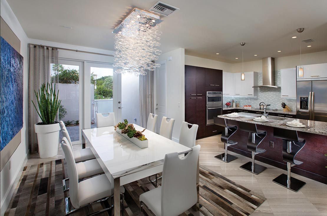 Interior Design by MH2G Furniture - Modern Dining Area at Landmark Modern Home A: 2 Story