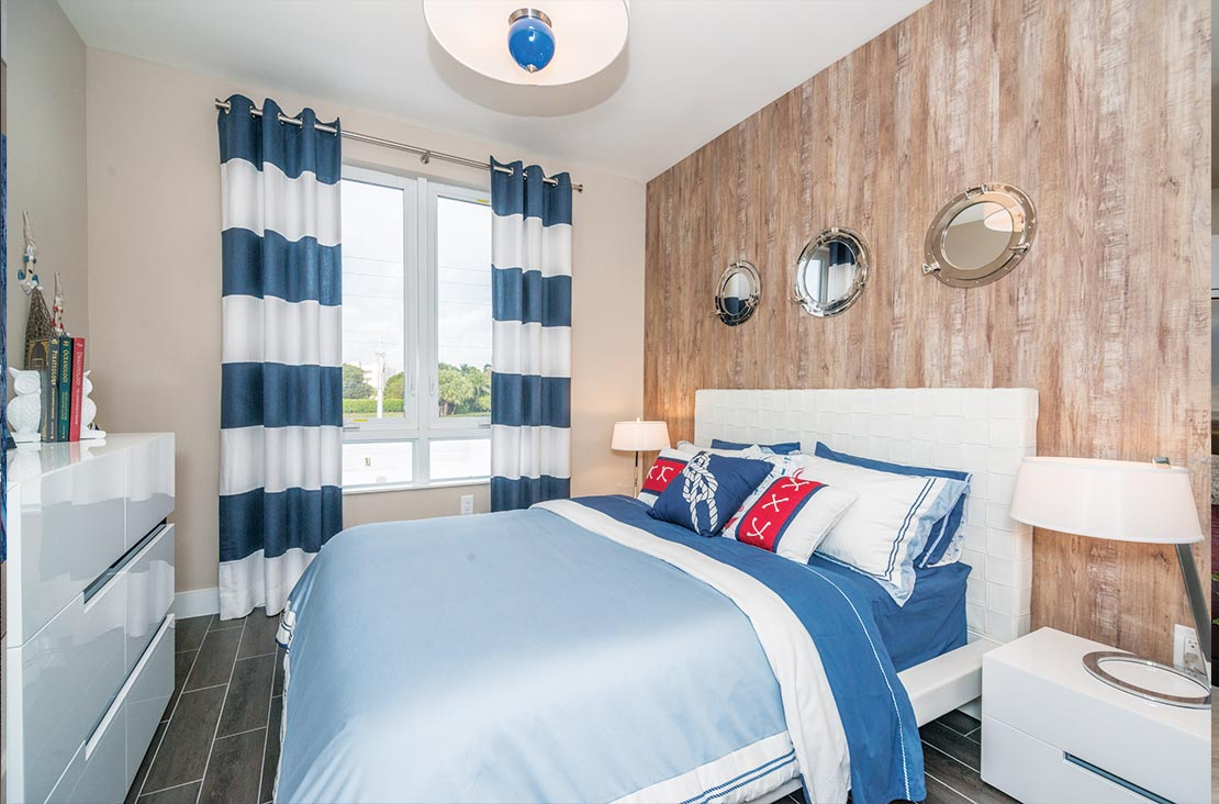 Interior Design by MH2G Furniture - Modern Guest Room at Landmark Modern Home A: 2 Story