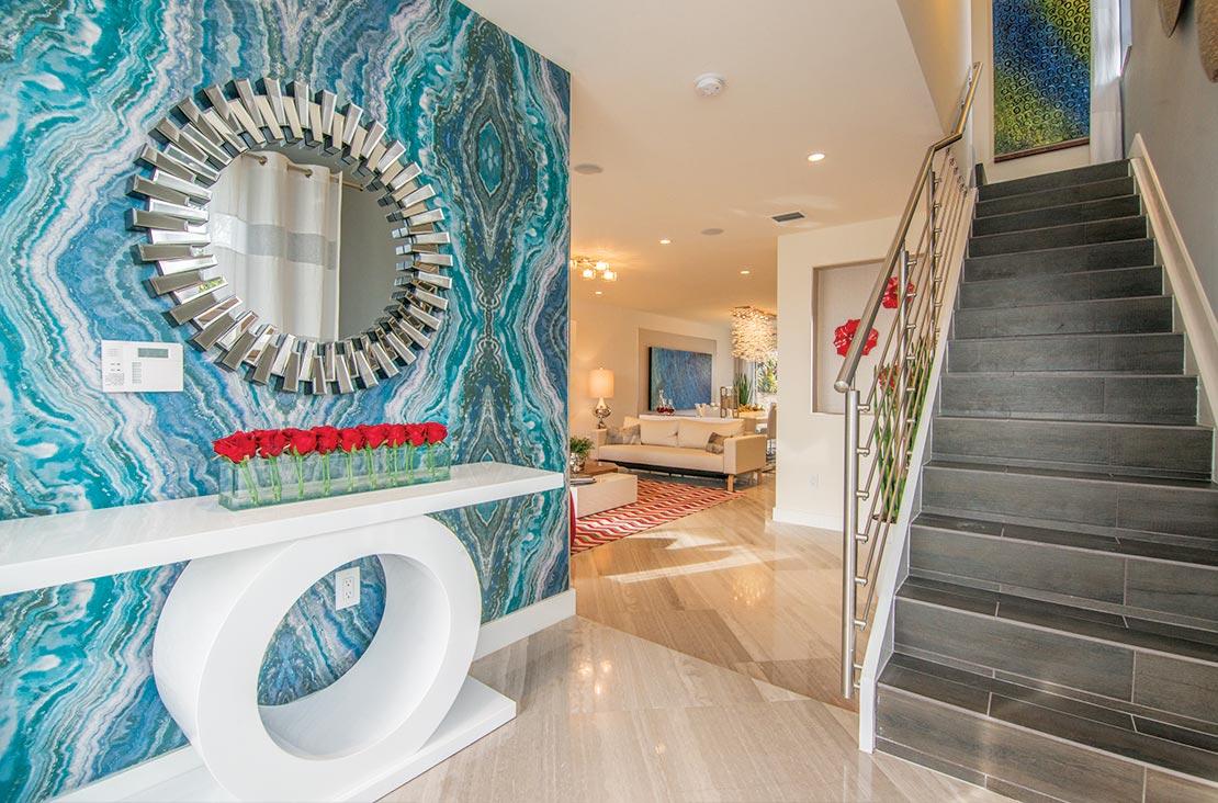 Interior Design by MH2G Furniture - Modern Hallway at Landmark Modern Home A: 2 Story