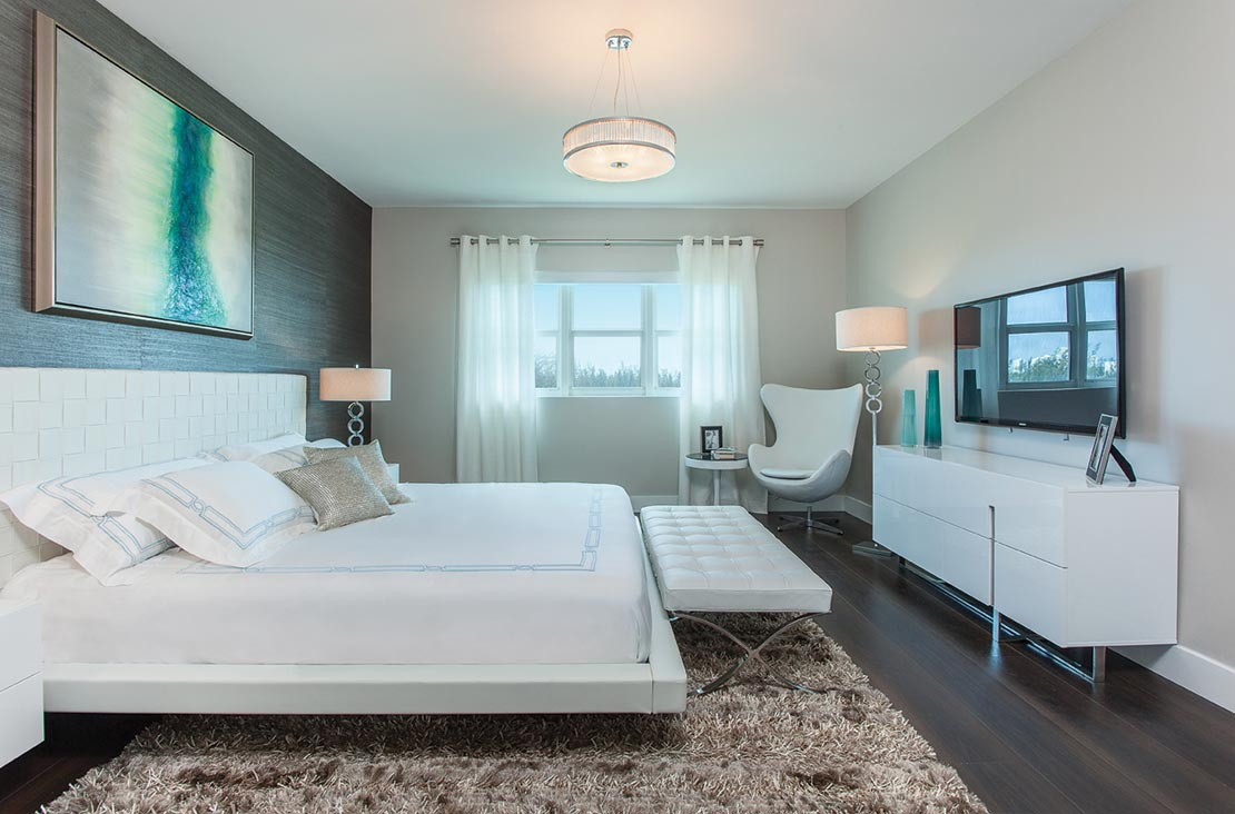 Interior Design by MH2G Furniture - Modern Bedroom  at  Biscayne 101: 2014