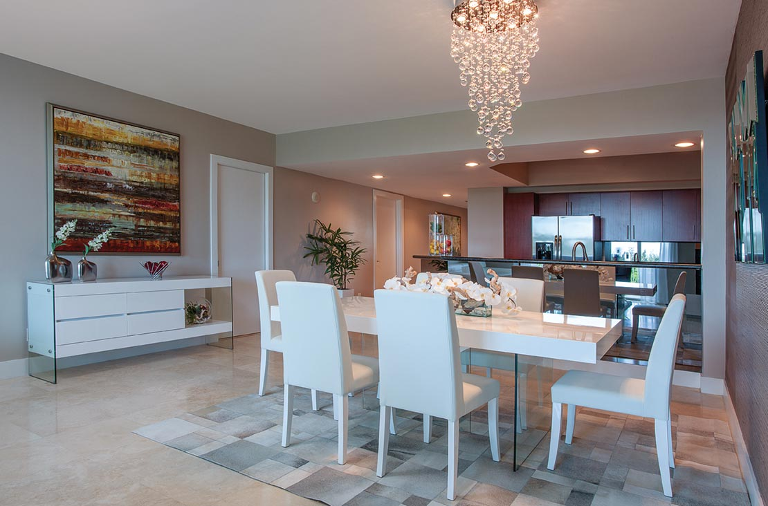 Interior Design by MH2G Furniture - Modern Dining Room at Biscayne 101: 2014