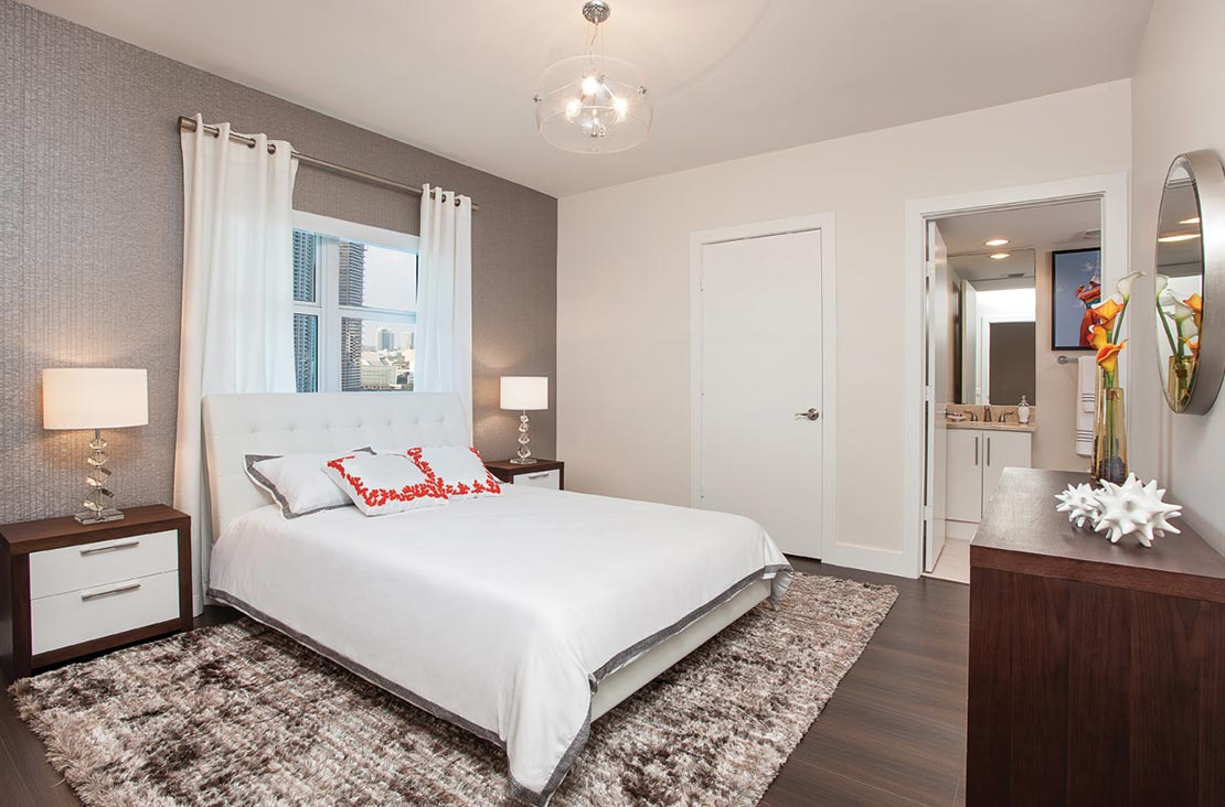 Interior Design by MH2G Furniture - Modern guest Room at Biscayne 101: 2014