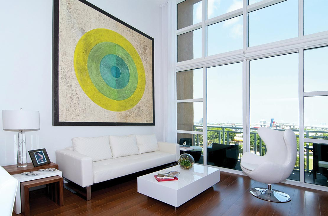 Interior Design by MH2G Furniture - Modern Living Room at Loft Apartment in Downtown Miami