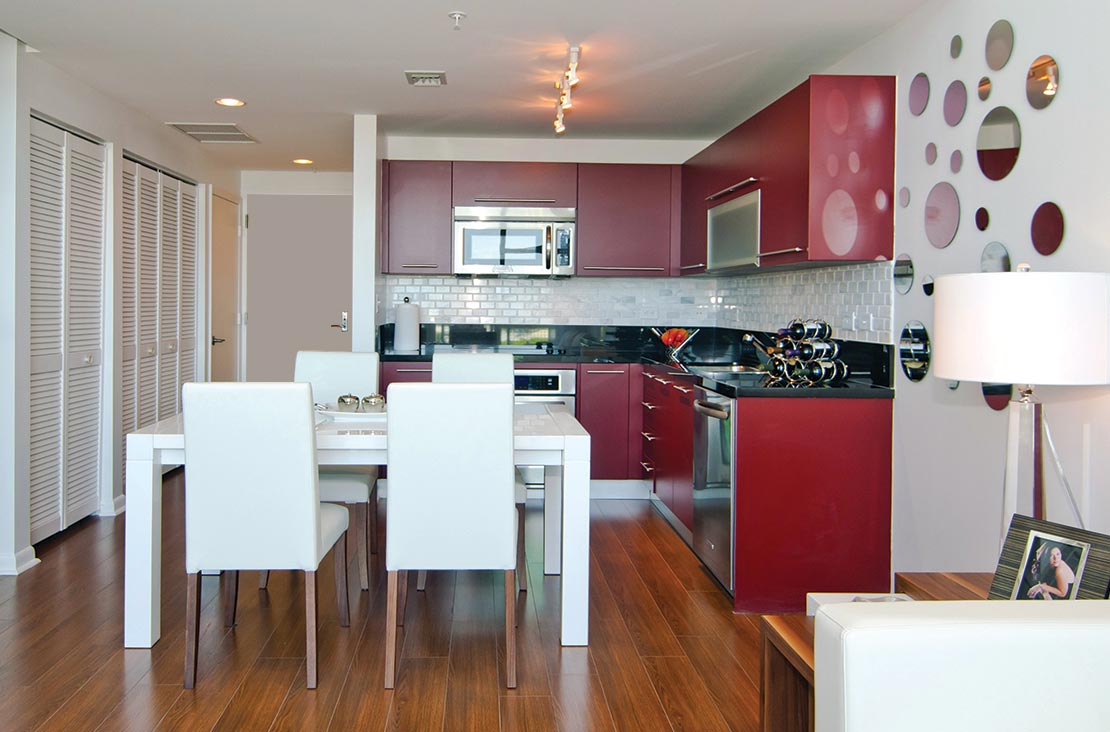 Interior Design by MH2G Furniture - Modern Dining Room aat Loft Apartment in Downtown Miami