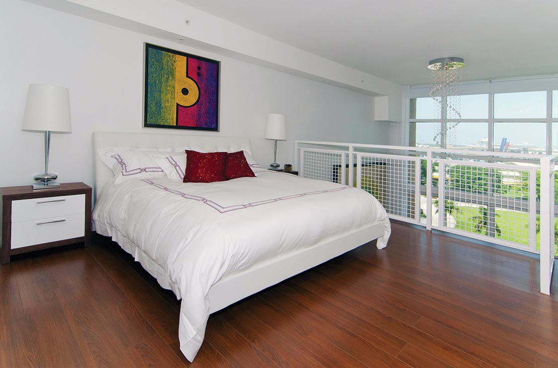 Interior Design by MH2G Furniture - Modern Guest Room at Loft Apartment in Downtown Miami