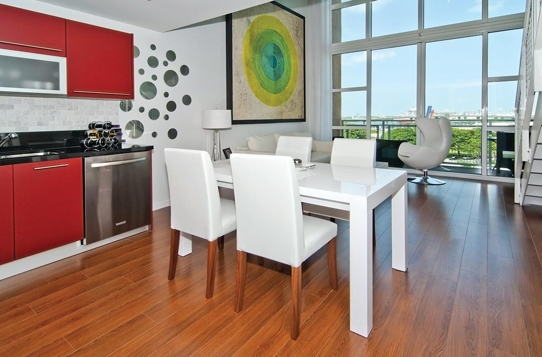 Interior Design by MH2G Furniture - Modern Livingroom at Loft Apartment in Downtown Miami
