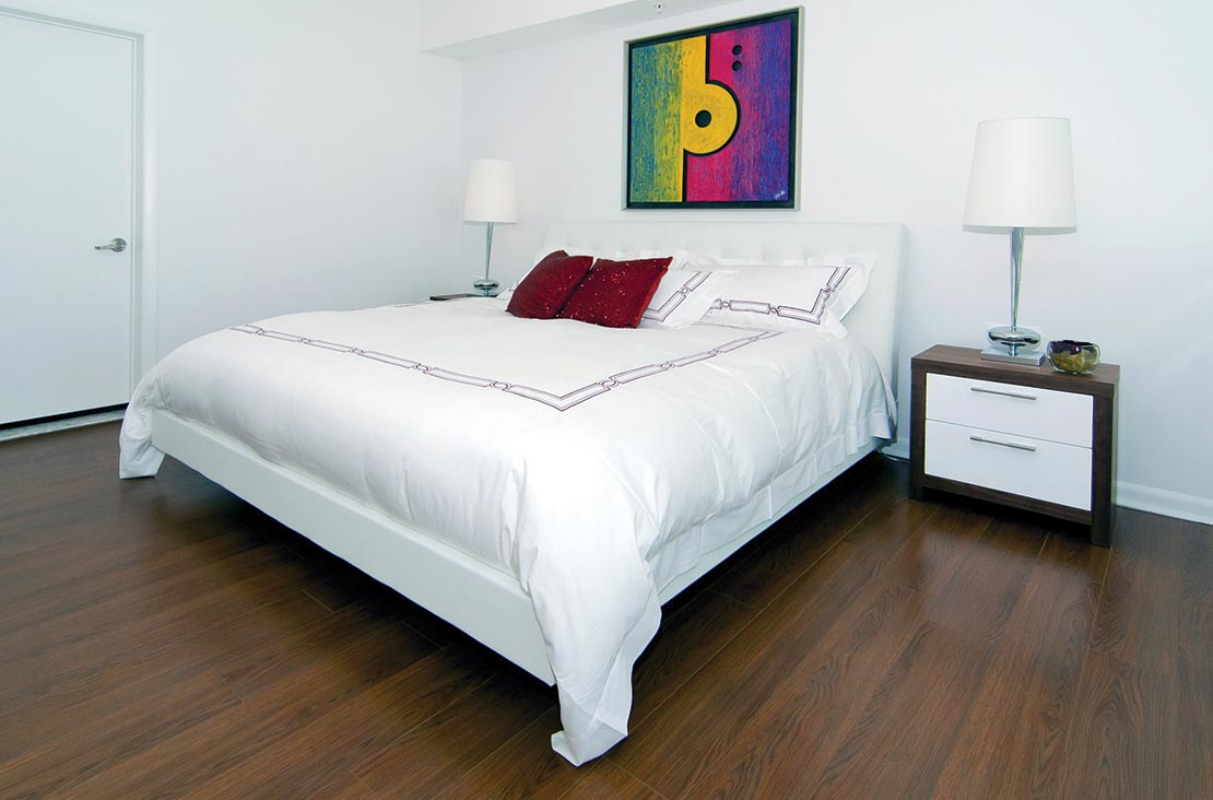 Interior Design by MH2G Furniture - Modern Bedroom at Loft Apartment in Downtown Miami