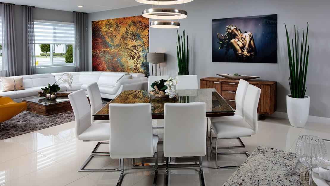 Interior Design by MH2G Furniture - Landmark Model Home: 3 Story 2015