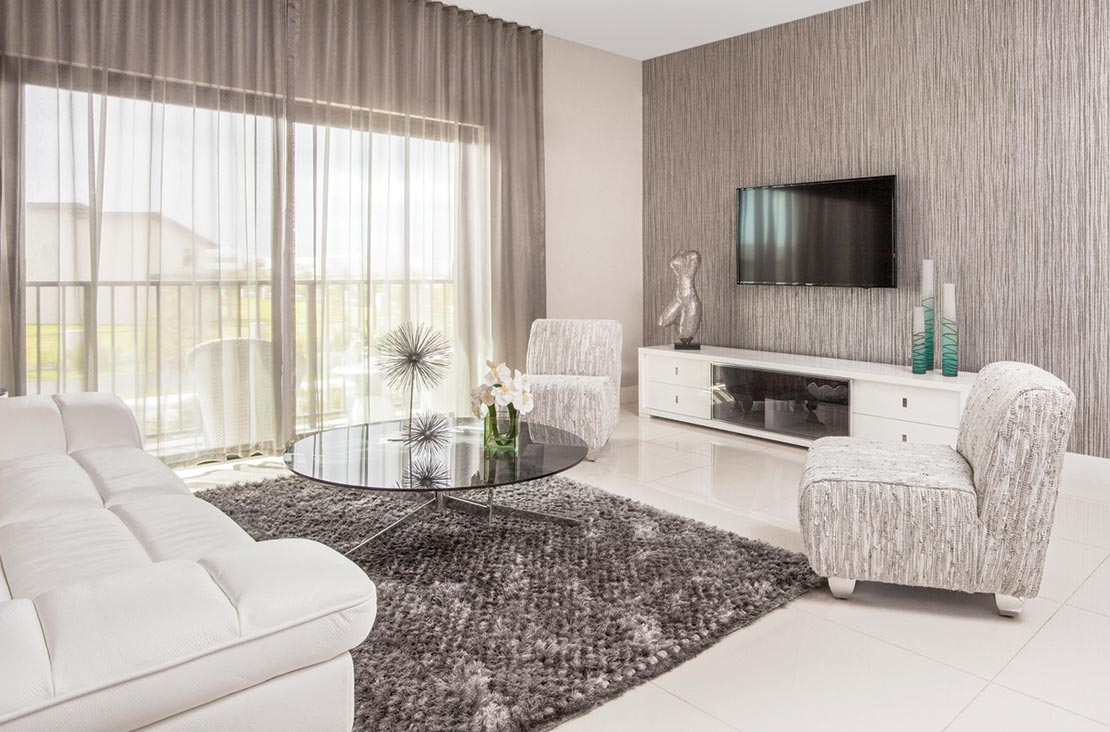 Interior Design by MH2G Furniture - Modern Living Room at Park Central Stratton