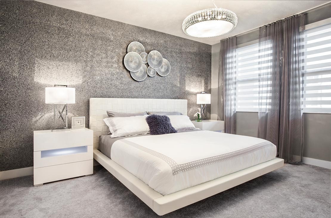 Interior Design by MH2G Furniture - Modern Bedroom at Park Central Stratton