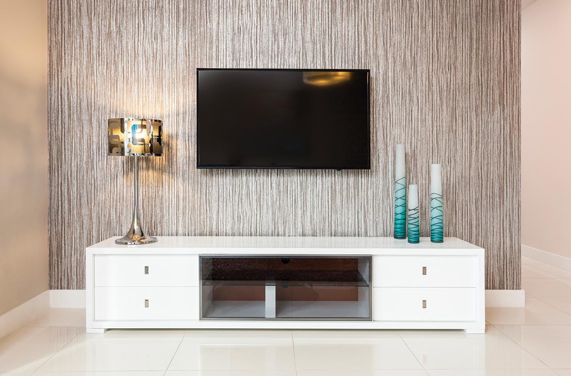 Interior Design by MH2G Furniture - Modern Media unit Area at Park Central Stratton