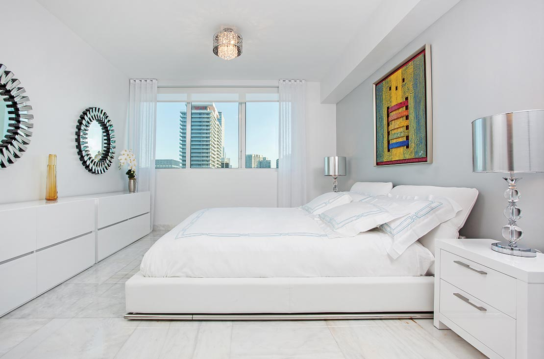 Interior Design by MH2G Furniture - Modern Bed Room at Viscayne Downtown Apartments