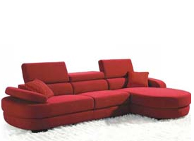 Modern Pristina Red fabric sofa