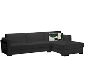 Modern Rapalo black leather sectional