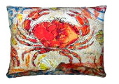 Red Crab Modern Outdoor Patio Pillow
