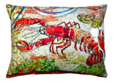 red Lobster Modern Outdoor Patio Pillow