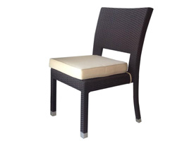 ruffano outdoor chair in espresso seat two. Modern outdoor bar set