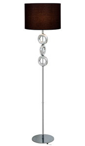 Seneca Modern Floor Lamp Black