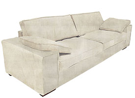 Sensual Modern Sofa in Beige Fabric