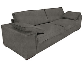 Sensual Modern Sofa in Grey Fabric