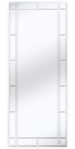 Silhouette rectangualr Modern Mirror Silver