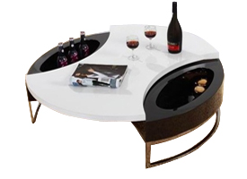 sorbello coffee table in black and white lacquer