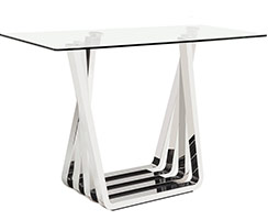 sorrento modern console table steel